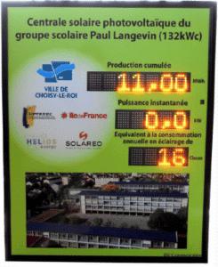 affichage production photovoltaique