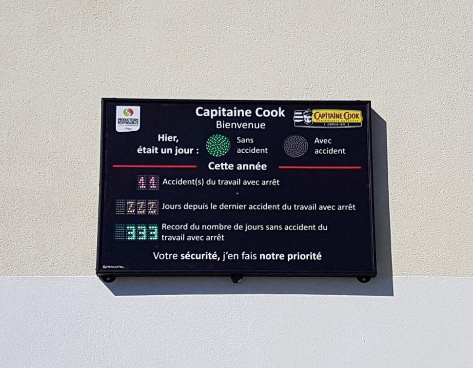afficheur securite capitaine cook