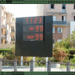 afficheur electronique sportif stade frc alpha 8c avec contour publicitaire stramatel merignac