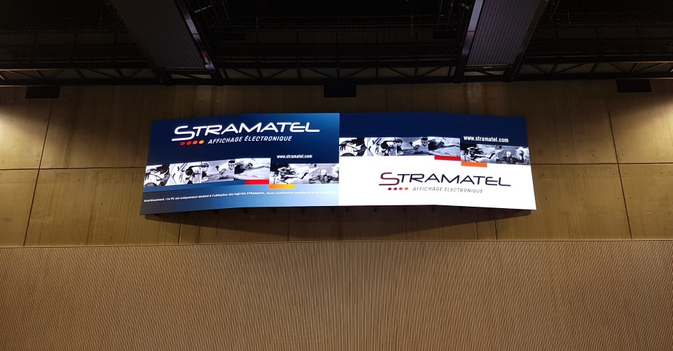 Écran vidéo LED Stramatel 4K Palestra de Chaumont