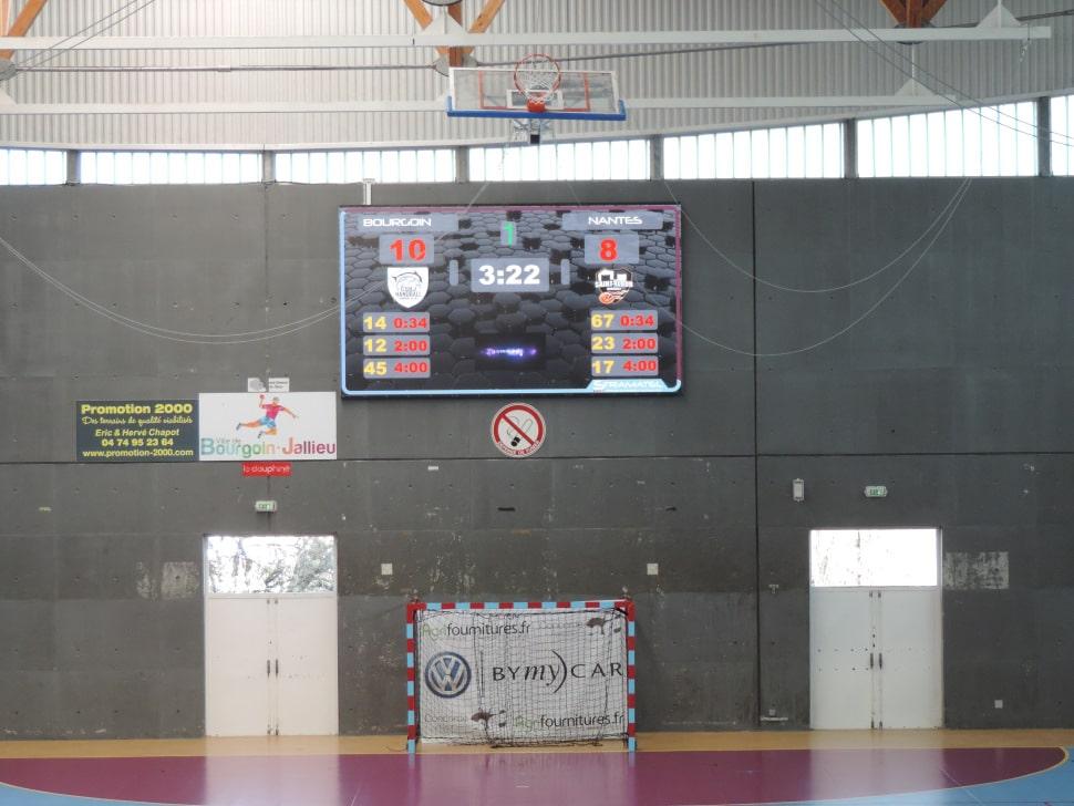 ecran video led stramatel palais des sports bourgoin jallieu