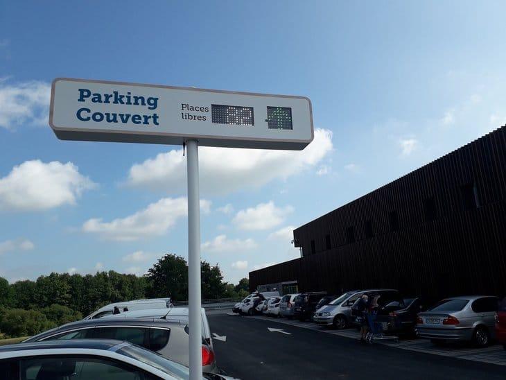 affichage nombre de place restante led parking systeme u treillieres