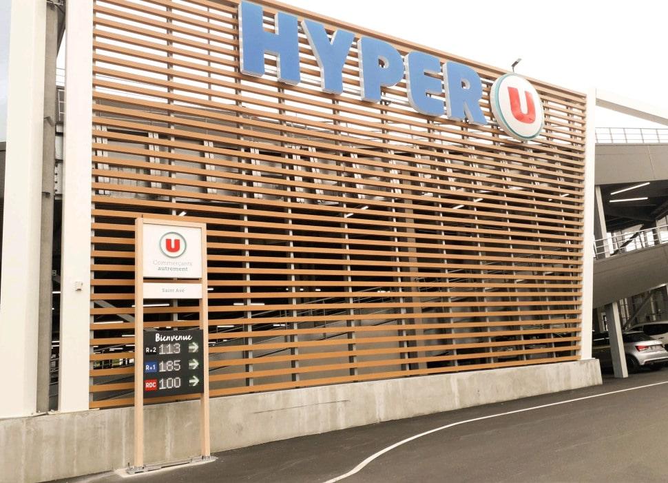 affichage nombre de place restante led parking systeme u saint ave