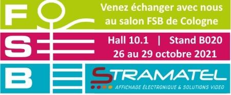 salon FSB 2021 Cologne en Allemagne stand Stramatel