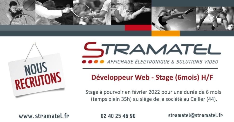 Recrutement Stramatel Stage Développeur Web H/F février 2022